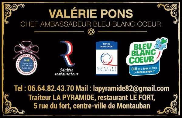 Logo Valérie PONS, restaurant DU FORT, La Pyramide des Saveurs