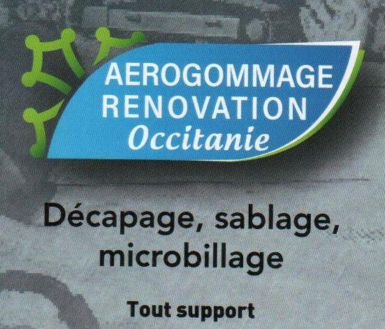 Logo Aérogommage Rénovation Occitanie