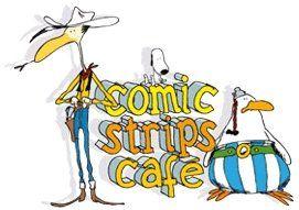 Logo Comic Strips Café