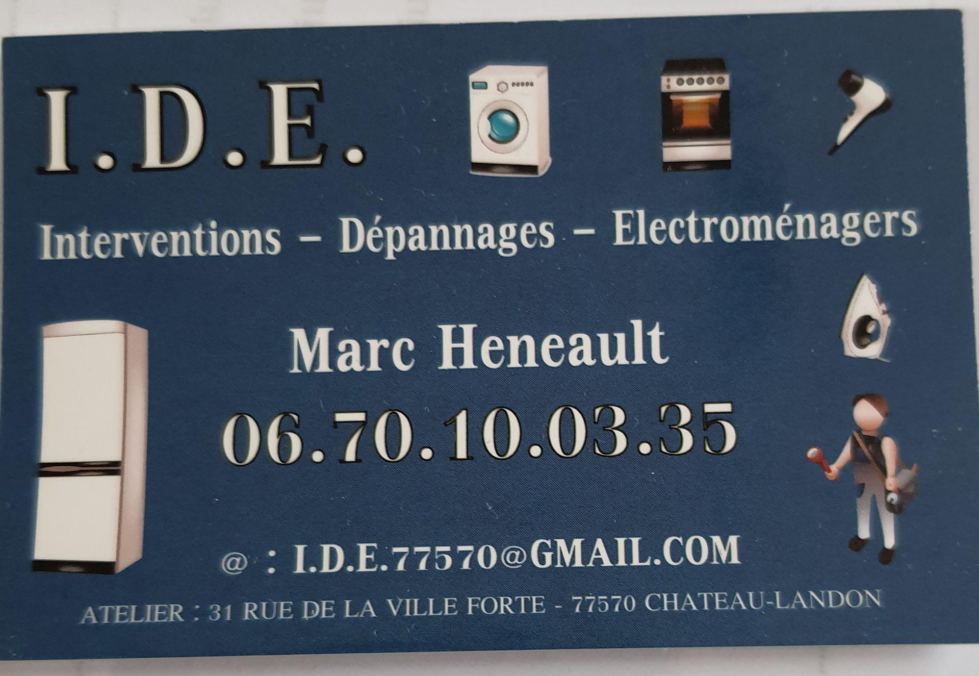 Logo I . D . E .  électroménager/ Smartphone /Artisan