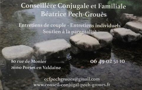 Logo Pech-Groues Béatrice Conseillière Conjugale et Familiale