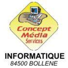 Logo Concept Média Services