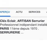 SerrurerieClésEclair - PARIS