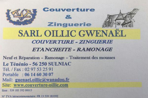 Logo Oillic Gwenael Couverture EURL