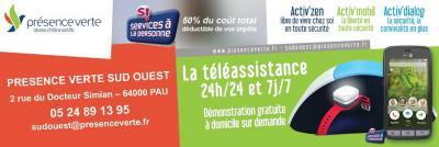 Présence Verte Sud-ouest Association - Services à domicile pour personnes dépendantes - Pau