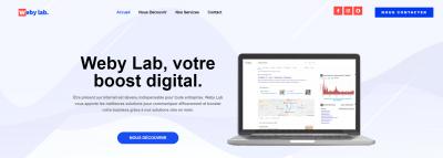 Weby Lab - Création de sites internet et hébergement - Villeurbanne