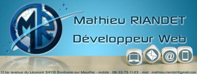 Riandet Mathieu - Création de sites internet et hébergement - Langres