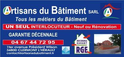 Artisans du Batiment - Entreprise de menuiserie - Clermont-l'Hérault
