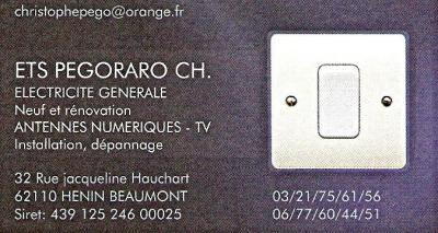 Pégoraro Christophe - Entreprise d'électricité générale - Hénin-Beaumont