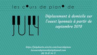Doutté July - Leçon de musique et chant - Grenoble
