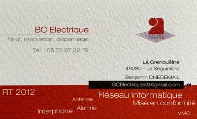 BC Electrique - Entreprise d'électricité générale - La Séguinière