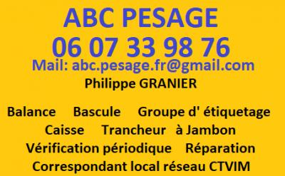 A.B.C. Pesage - Appareils de mesure, contrôle et détection - Aurillac