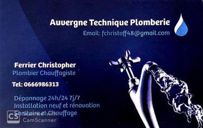 Ferrier Christophe - Plombier - Chamalières
