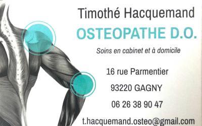 Hacquemand Timothé - Ostéopathe - Gagny