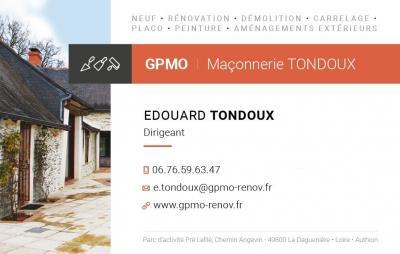 Gpmo Maconnerie Tondoux - Entreprise de maçonnerie - Loire-Authion