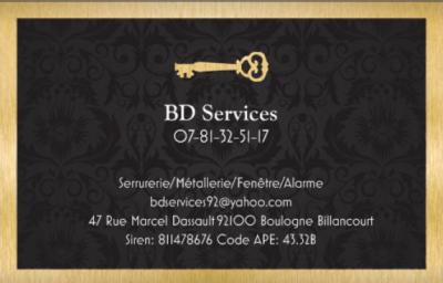 Bd Services - Serrurier - Boulogne-Billancourt