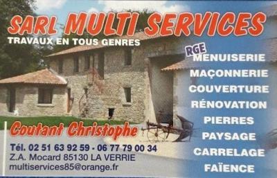 Multi-Services Coutant Christophe - Entreprise de maçonnerie - Chanverrie