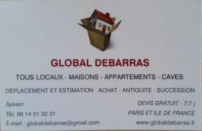Global Débarras - Déblaiement et débarras - Montreuil