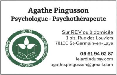 Pingusson Agathe - Psychologue - Saint-Germain-en-Laye