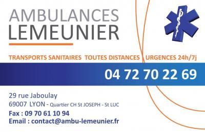 Ambulances LEMEUNIER - Ambulance - Lyon