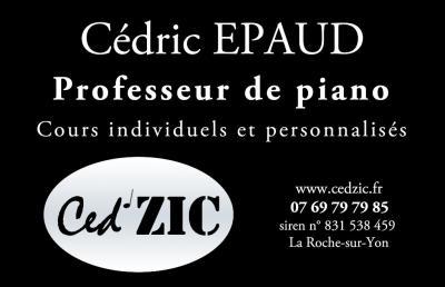 Epaud Cedric - Leçon de musique et chant - La Roche-sur-Yon