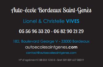 Auto-Ecole Saint Genes SARL - Auto-école - Bordeaux