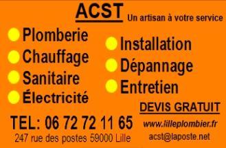 Acst - Plombier - Lille