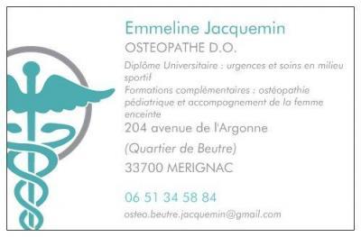 Jacquemin Emmeline - Ostéopathe - Mérignac