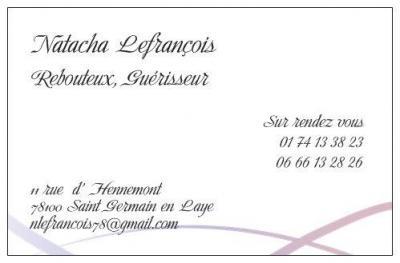 Natacha Lefrançois - Soins hors d'un cadre réglementé - Saint-Germain-en-Laye