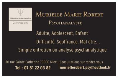 Murielle Robert - Psychanalyste - Niort