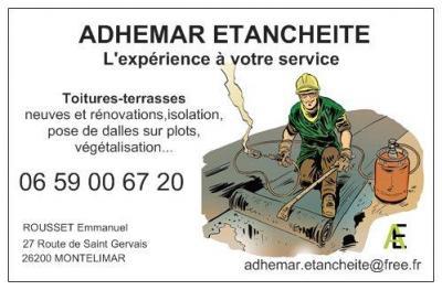 Adhemar Etancheite - Entreprise d'étanchéité - Montélimar