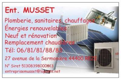 Musset Entreprise - Plombier - Rezé