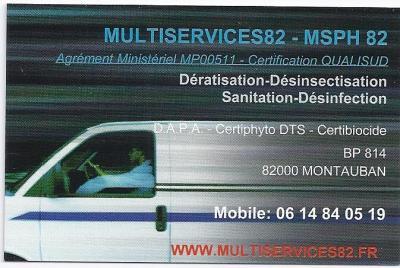 Multiservices82 - Msph 82 SARL - Entreprise de nettoyage - Montauban