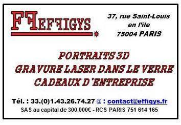 Effigys SAS - Gravure sur verre - Paris