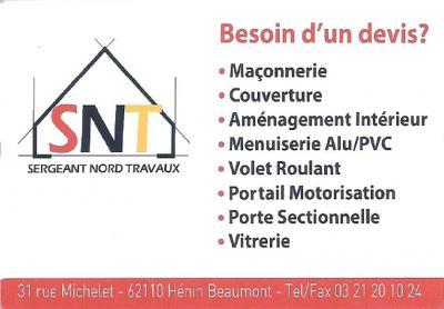 Sergeant Nord Travaux - Entreprise de bâtiment - Hénin-Beaumont