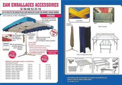 Emballage Accessoires Marché - Installation d'expositions, foires et salons - Nîmes