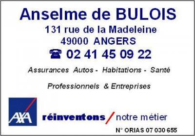 Axa Anselme De Bulois (Agent général) - Banque - Angers