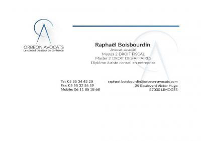 Orbeon Avocats Raphaël Boisbourdin - Avocat - Limoges