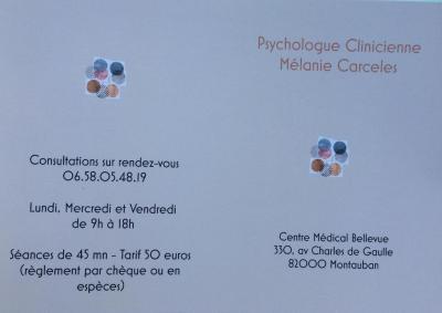 Mélanie Carceles - Psychologue - Montauban