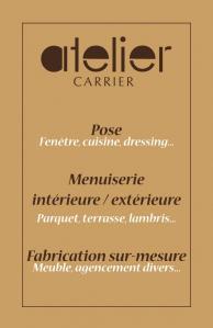 Atelier Carrier - Entreprise de menuiserie - Aurillac