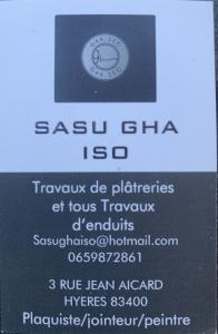 SAS Gha Iso - Plaquiste - Hyères