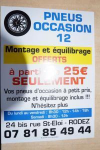 Pneus Occasion12 - Vente et montage de pneus - Rodez