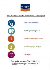 Ligue Nationale contre le Cancer Comité du Cantal - Association humanitaire, d'entraide, sociale - Aurillac