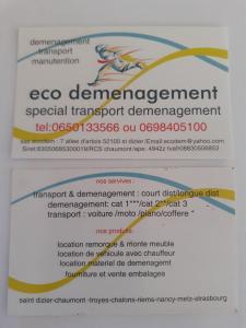 Eco Demenagement - Transport routier - Saint-Dizier