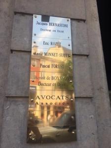 Bernasconi, Rozet, Monnet-suety, Forest, - Avocat - Bourg-en-Bresse