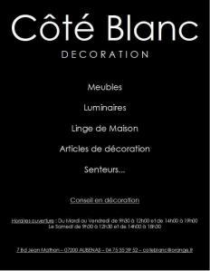 Côté Blanc - Magasin de meubles - Aubenas