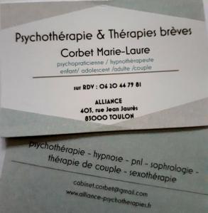 Marie-Laure Corbet Alliance Hypnose & Thérapies - Conseil conjugal et familial - Toulon