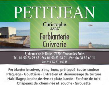 Ferblanterie Cuivrerie Petit Jean Christophe - Entreprise de couverture - Thonon-les-Bains