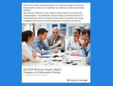 BAALDI-Business Angels Algérie Diaspora - Association humanitaire, d'entraide, sociale - Paris