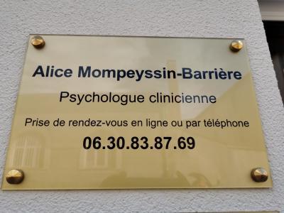 Alice MOMPEYSSIN BARRIERE - Psychologue - Limoges